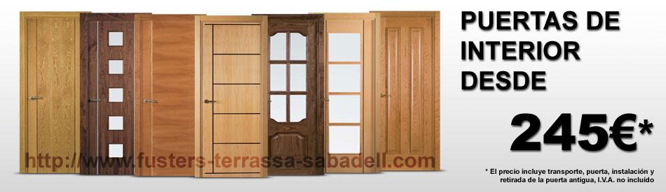 Oferta en puertas de madera de interior con instalación incluida